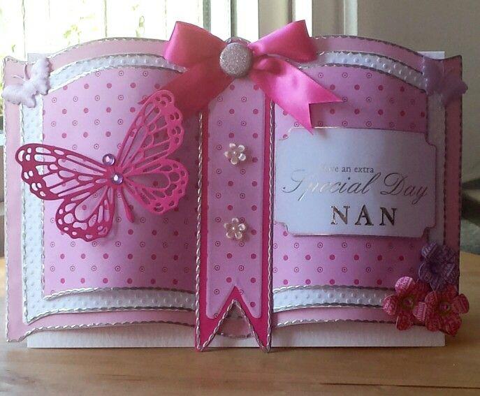 Bookatrix Card Pretty Pinks Cards Pop Up Card Templates Card Book