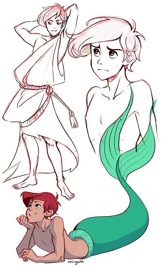 Ariel como chico. Es monísimo