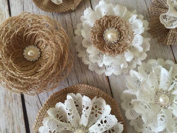 5x flores de ganchillo hecho a mano