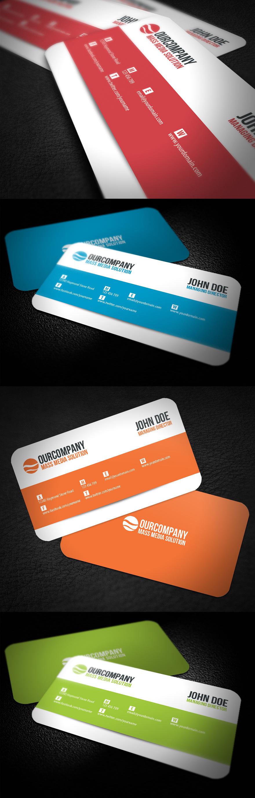 modern rounded corner business card by glenngoh on deviantart