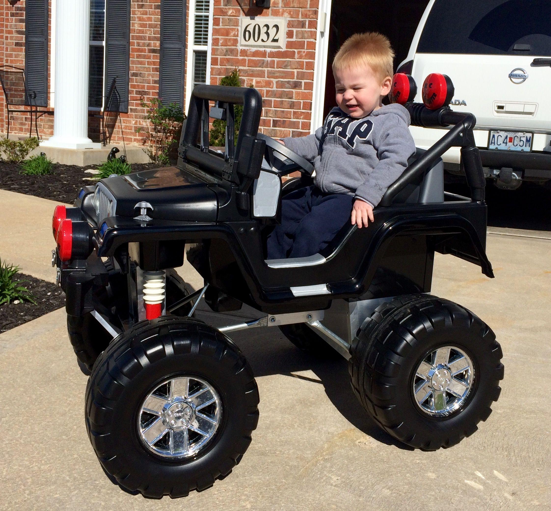 Custom power wheels jeep