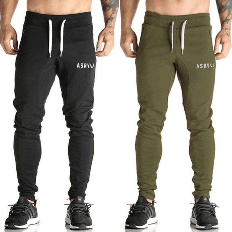 cbf874b865c2 Mens Gym Pants Tracksuit Bottoms Skinny Joggers Sweatpants Slim Fit Trousers