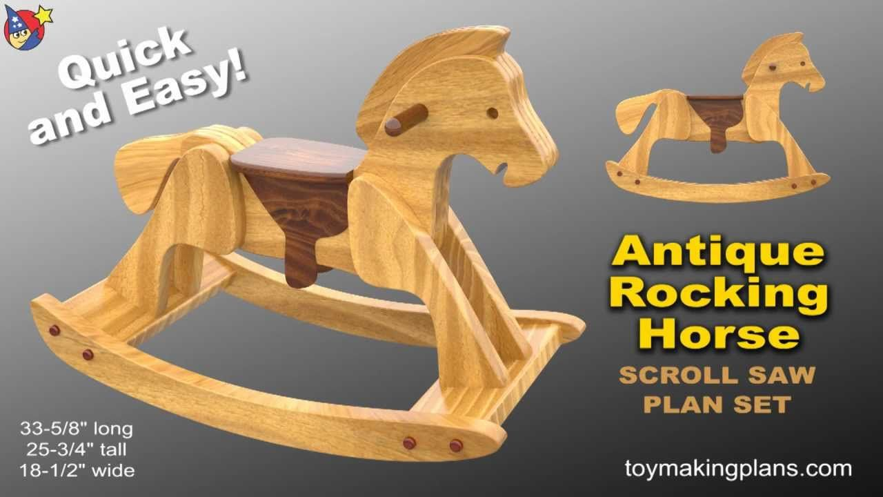 Wood Toy Plan Heirloom Rocking Horse Kids Toys Wood