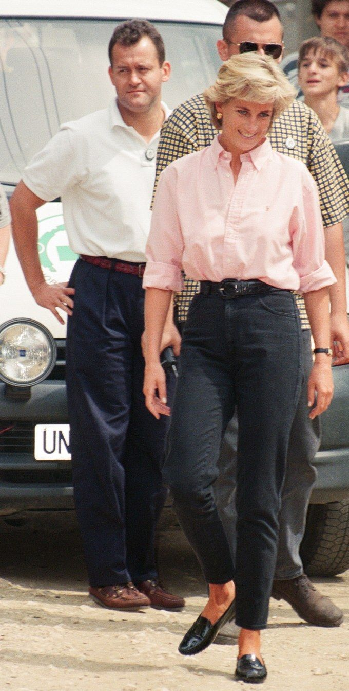 No One Did Denim Better Than Princess Diana #fashioninthe90s