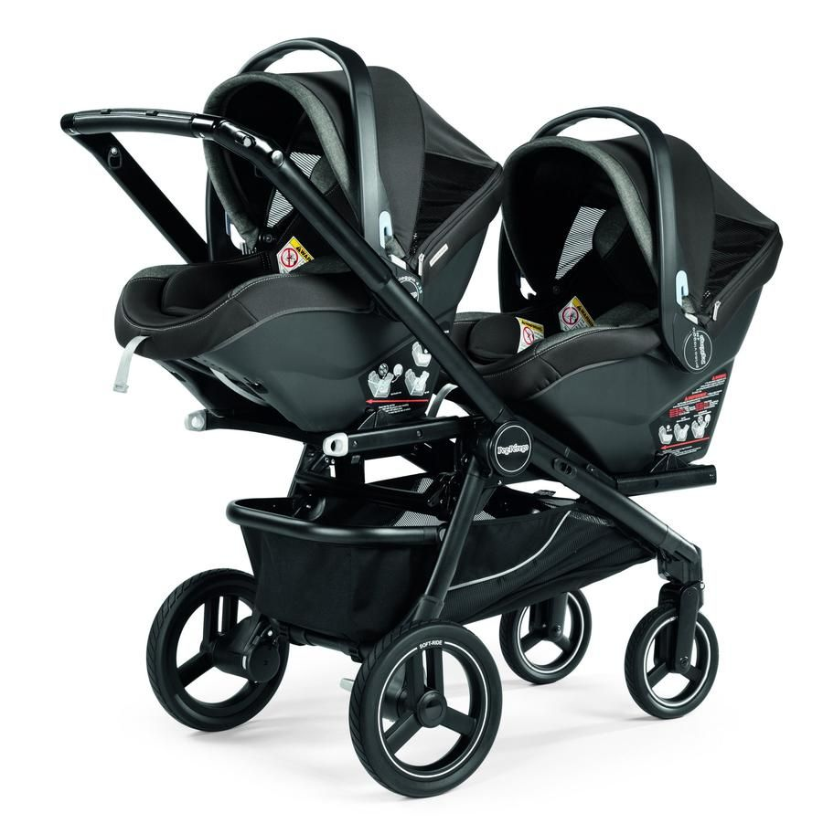 Poussette Peg Perego Trio Cross Peg Perego Team Double Stroller With Team Adapter 2 N 1