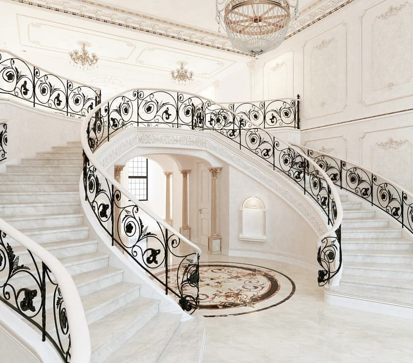 Decorating A Staircase Ideas Inspiration: Stunning Staircase! Rate It From 1 To 10🙌🙌 By Luxury Group