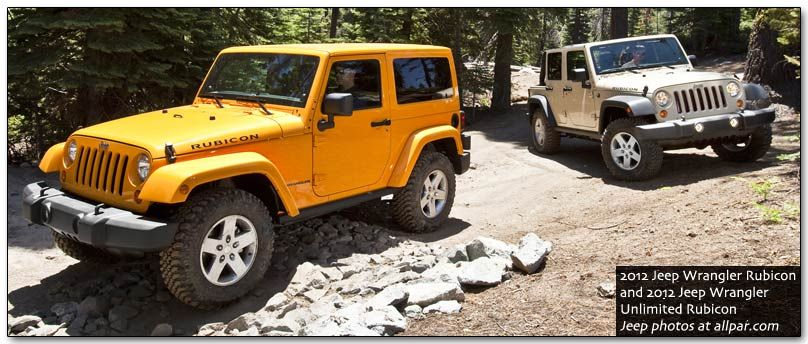 2012 Jeep Rubicon Models
