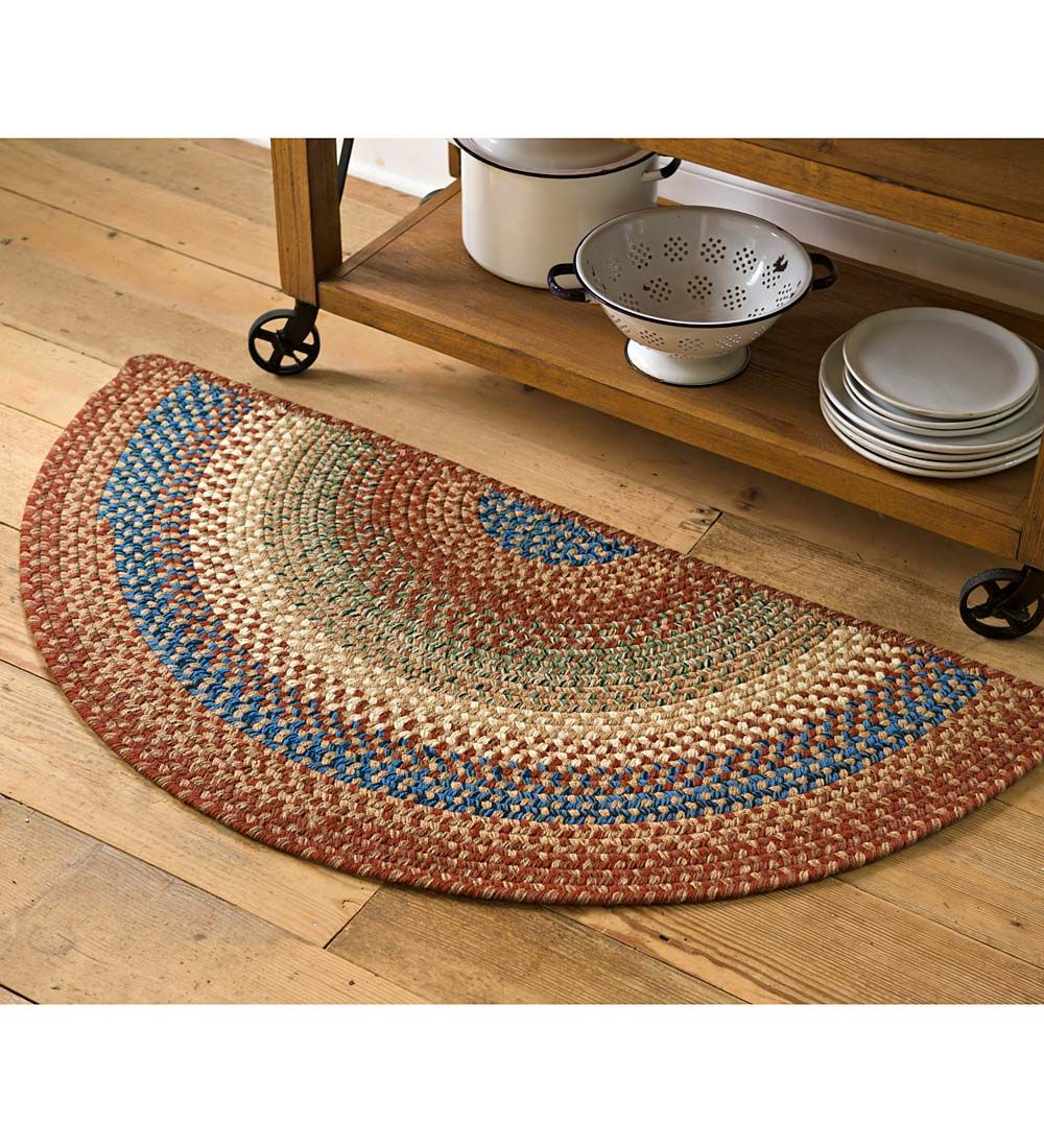 Braided Polypro Roanoke Half Round Rug 2 X 4 Accent Rugs Rugs Round Rugs Circle Rug