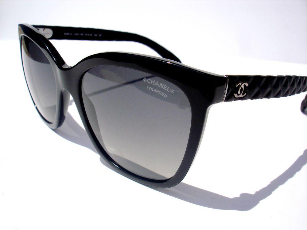 0b3b2dd2876 NEW Chanel Sunglasses 5288 5288-Q Black Polarized c.501 S8 Authetnic  chanel   Square