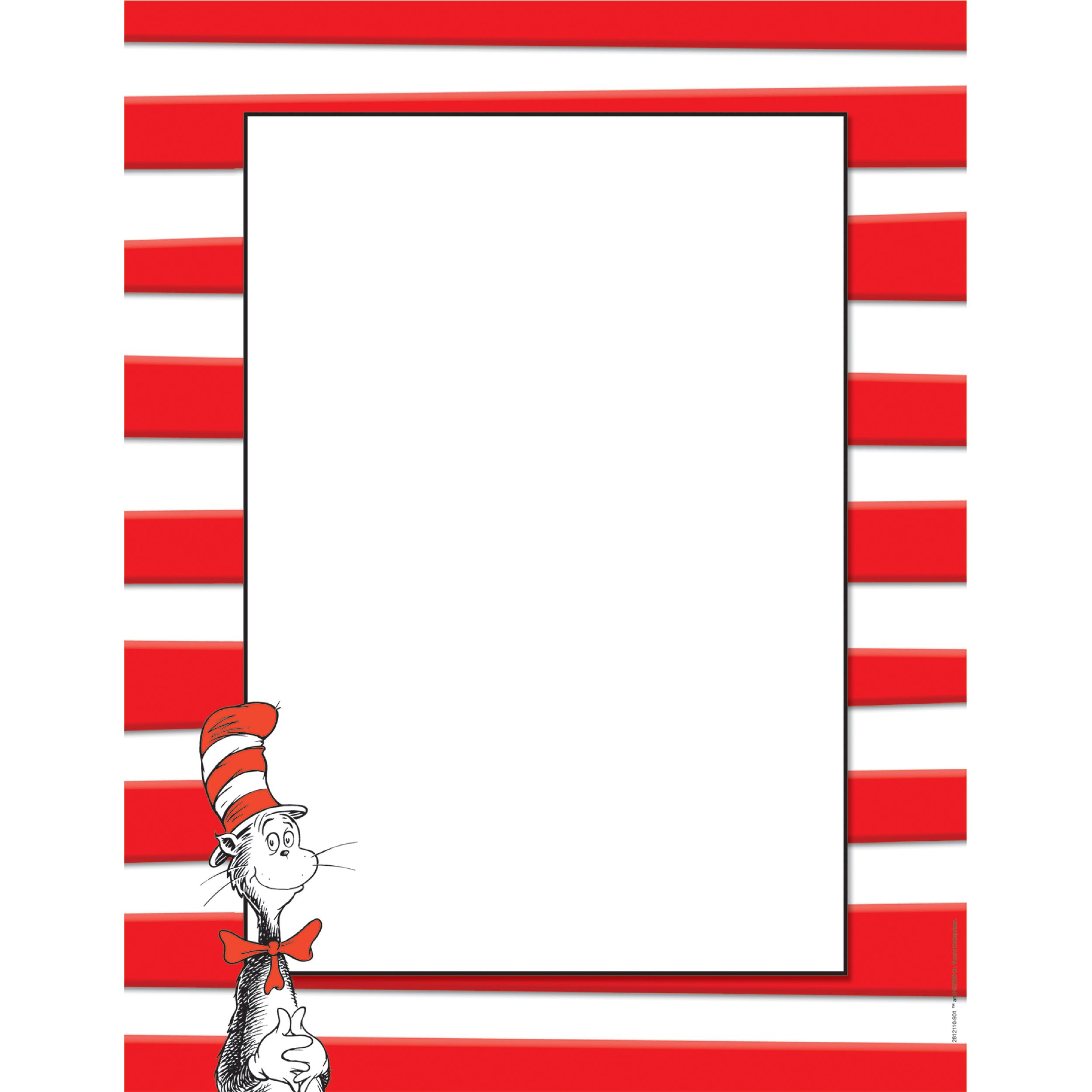 Seuss The Cat in the Hat Computer Paper by Eureka Dr