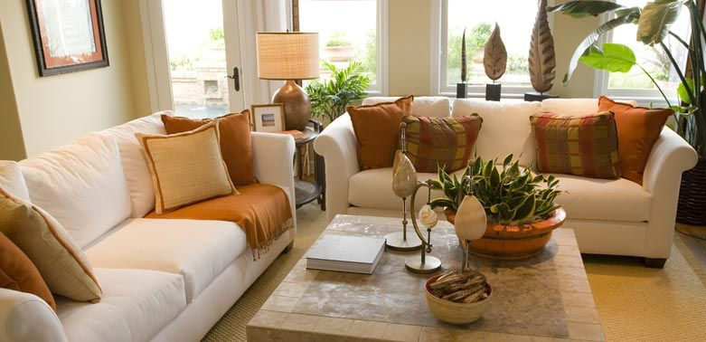 I Love This Room For Its Use Of Fall Colors In A Bright And Cheerful Way · Cheap  Living Room SetsLiving Room Table ...