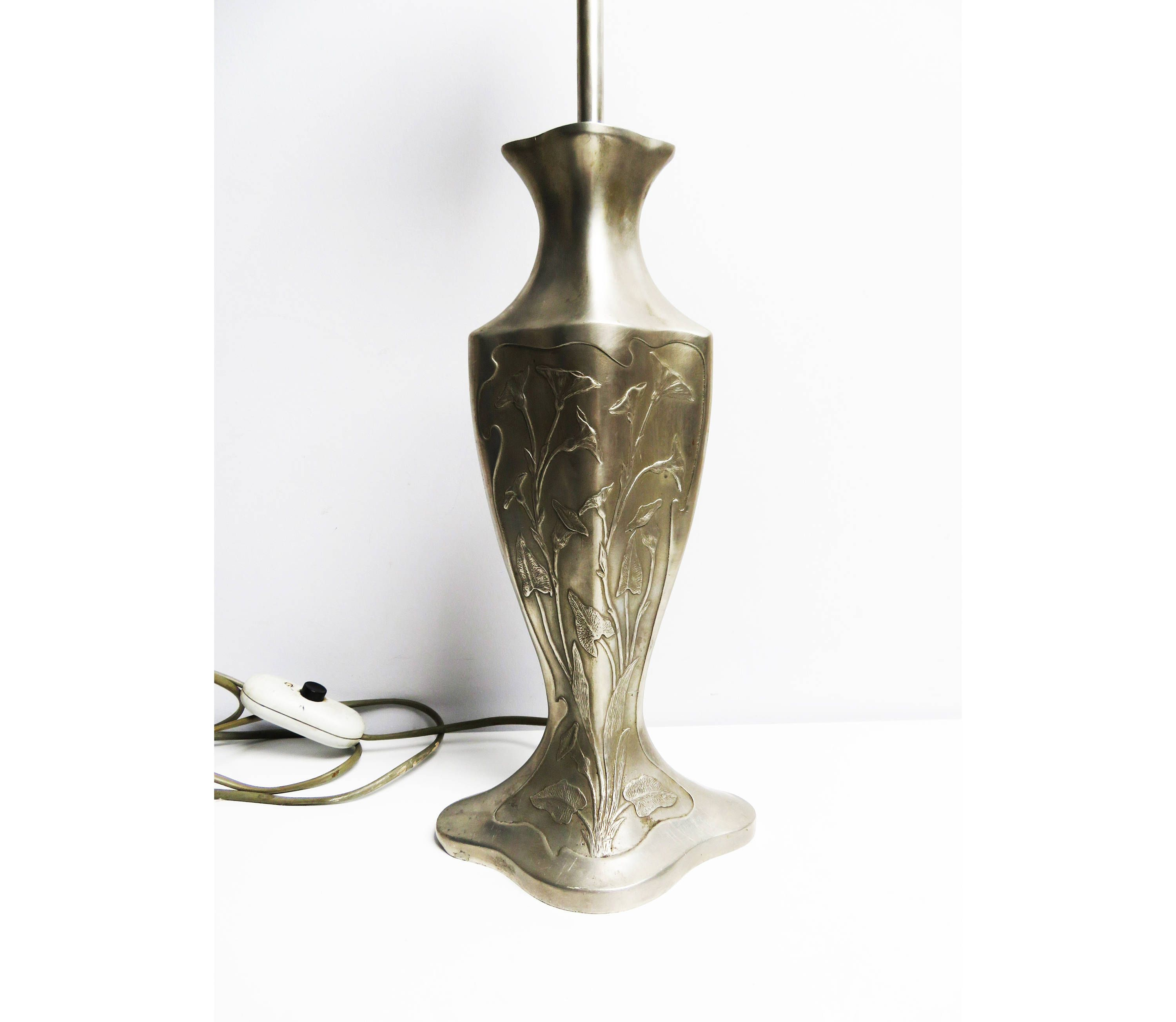Pin by emma on ebyvintageetsy vintage finds pinterest lamp electrical wiring lamp bases vintage art table lamps art nouveau pewter tin tin metal tin metal greentooth Images