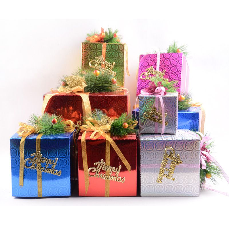 Aliexpress Com Buy Christmas Decorations Supplies Gift Boxes Ornaments New Yea Christmas Decorations Cheap Christmas Decorations Ornaments Christmas Gift Box