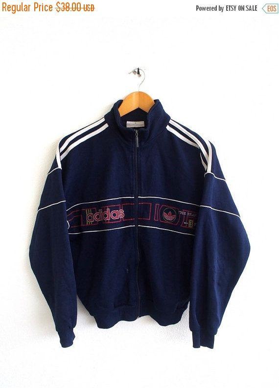 f5e60620a Vintage 90's ADIDAS Big Logo Trefoil Sportswear Streetwear Crewneck ...