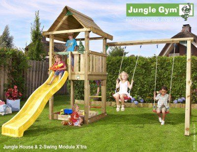 Klettergerüst Jungle : Jungle house shown with 2 swing module garten pinterest