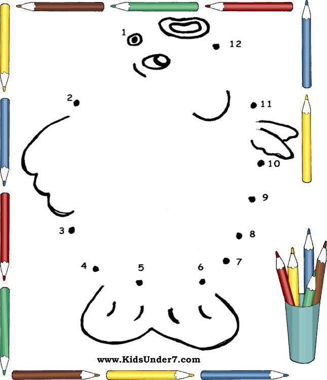 cijfertekening vis 1-12 číselné spojovačy Pinterest - best of number 3 coloring pages preschool