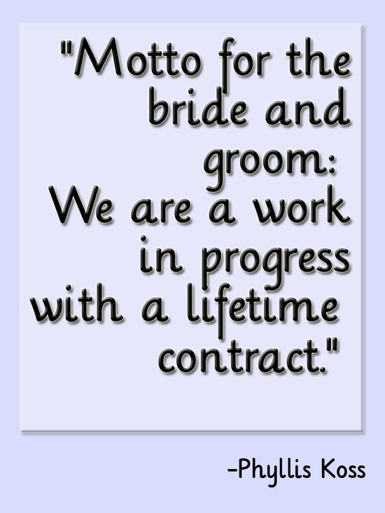 Motto For The Bride And Groom Marriage Quote Simply June Quotes