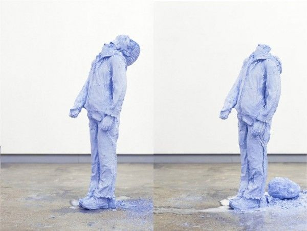 Sydney-based artist Tim Silver creates these striking figures that appear to gradually disintegrate over time.
