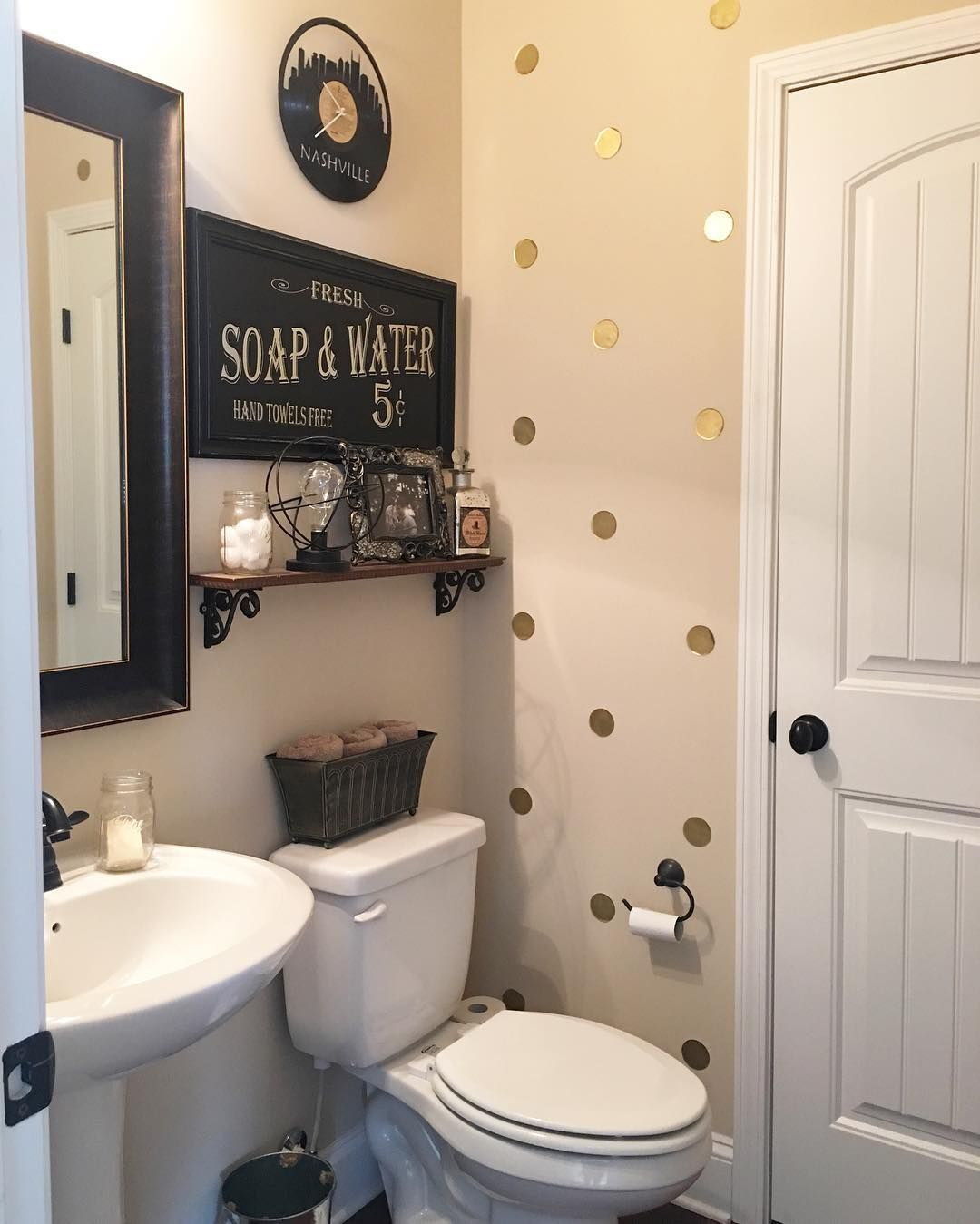Impress Your Visitors With These 30 Cute Half Bathroom Designs