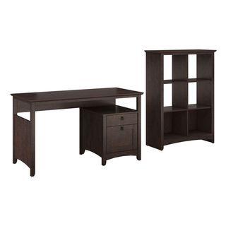 Buena Vista Madison Cherry Single Pedestal Desk and 6-cube Storage