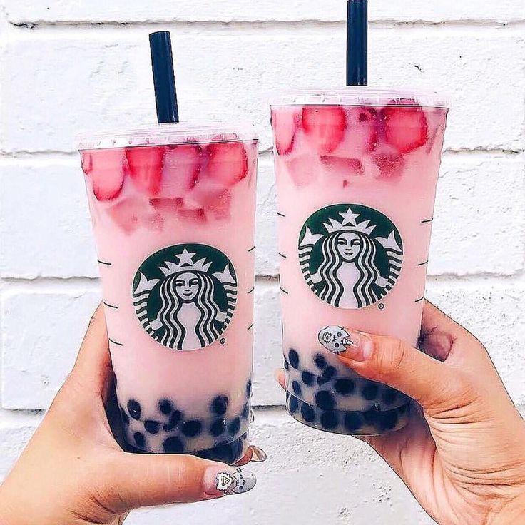 Think Pink Agacigirl Inspo Iced Starbucks Drinks Starbucks Drinks Secret Starbucks Drinks