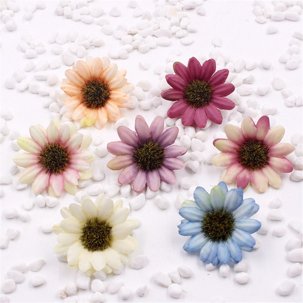 Pcs silk artificial flowers daisy flower bouquet diy wedding