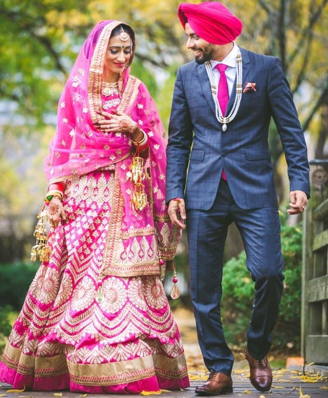 35 Punjabi Bridal Lehenga Styles that You Would Want to Steal ...