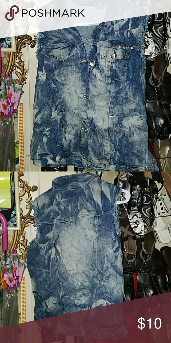 Jean vest Jean vest . Worn a few times.  Checkout closet sale Clearout Jackets & Coats Vests