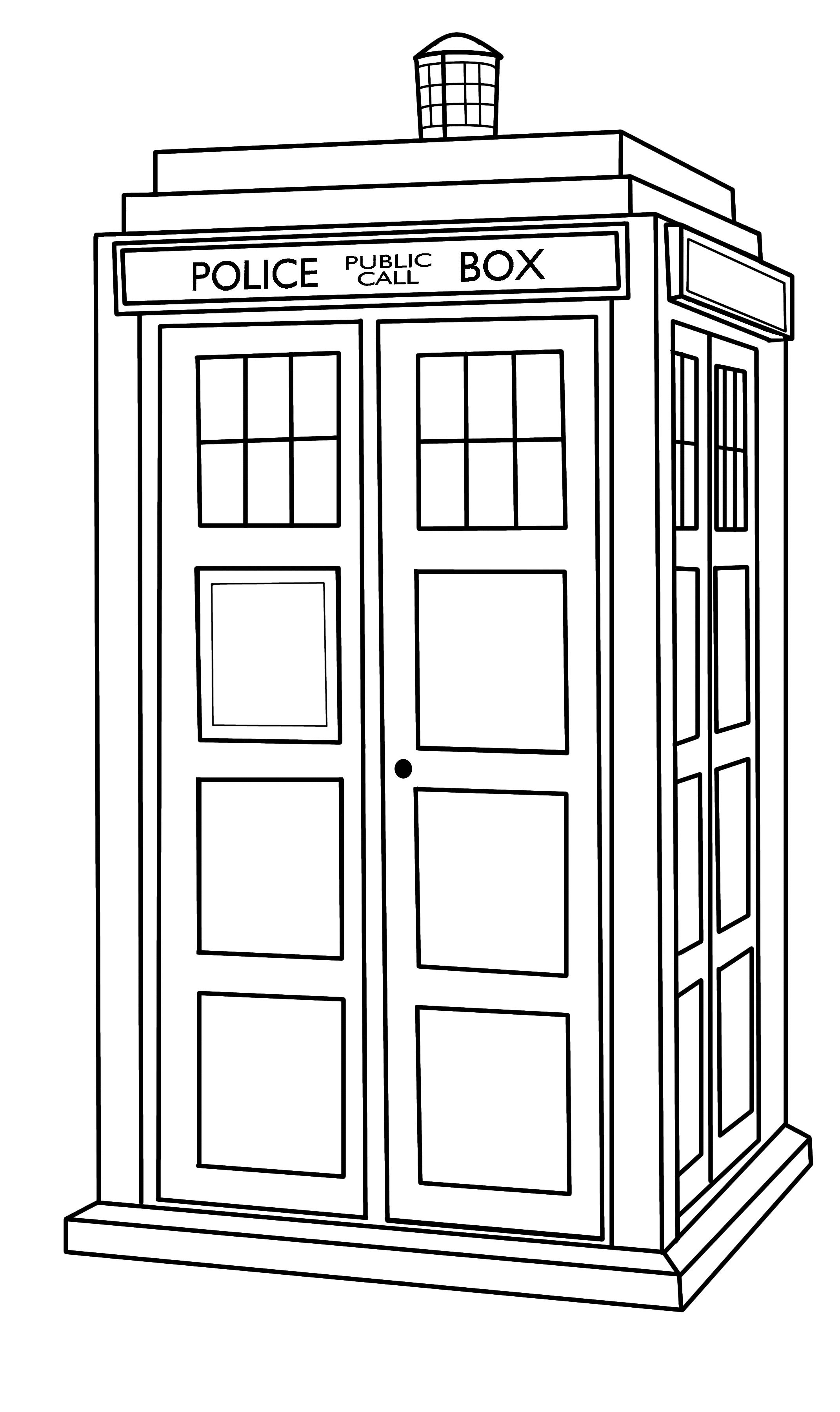 Line Drawing Of A Doctor : Tardis outline by callmepin viantart on deviantart
