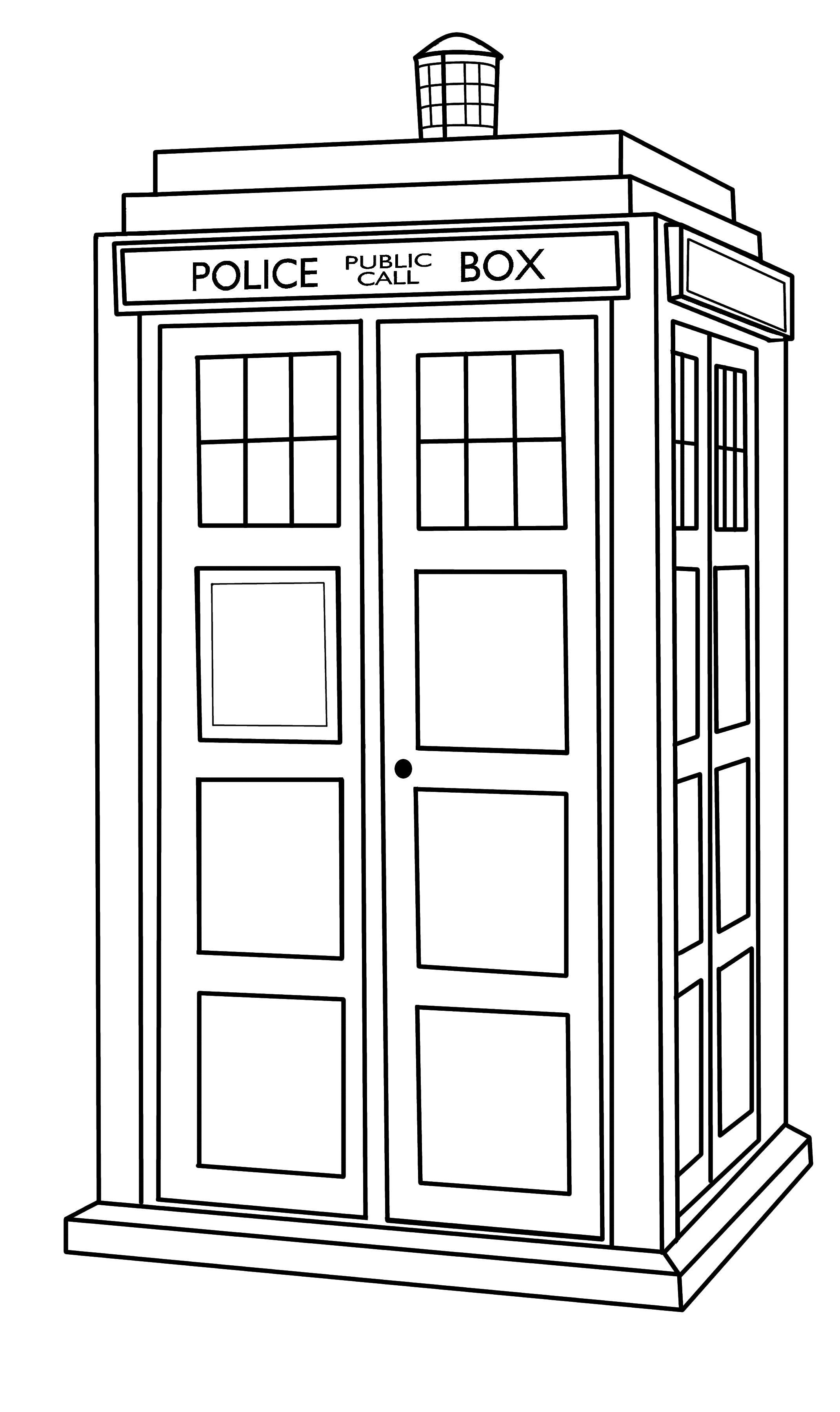 Line Drawing Of A Doctor : Tardis outline by callmepin viantart on deviantart
