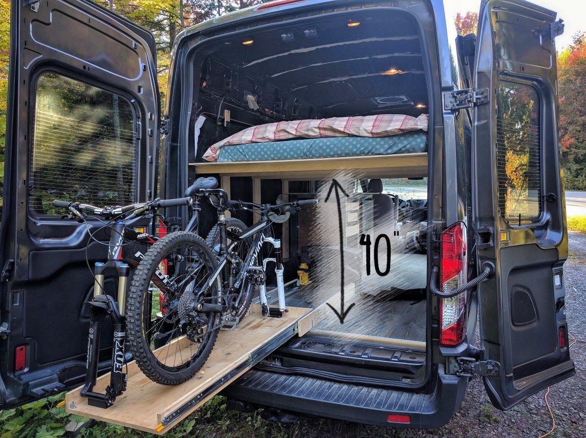 Platform Bed Installation In A Camper Van Conversion Ford