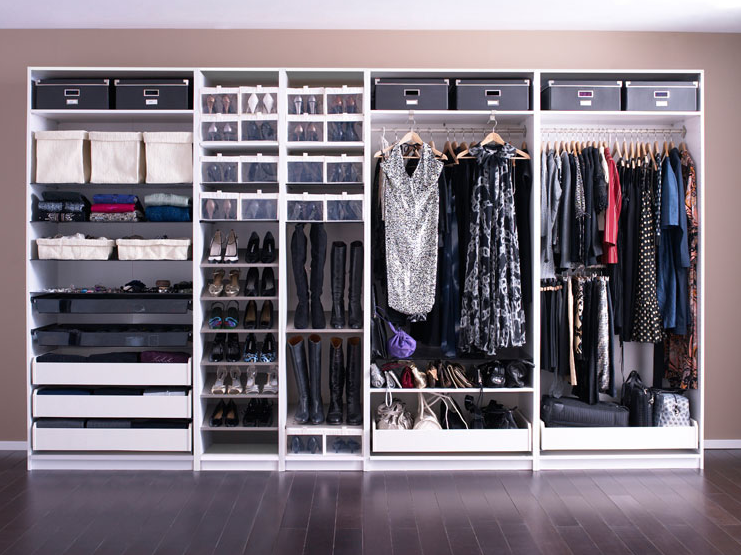 Storage Functional Ikea Pax Closet System Ideas Wire Systems Built In Solid Wood Closets As