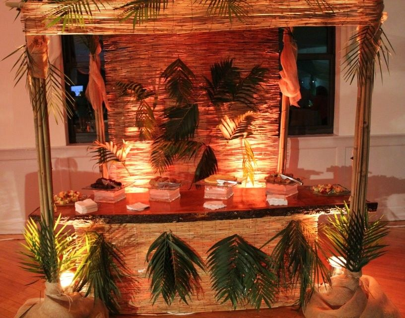 10 Best Caribbean Centerpieces Images On Pinterest: Tiki Bar For Caribbean Themed Event!