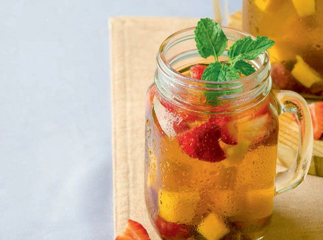 Use this iced tea recipe to make your own iced tea version with fresh ingredients!