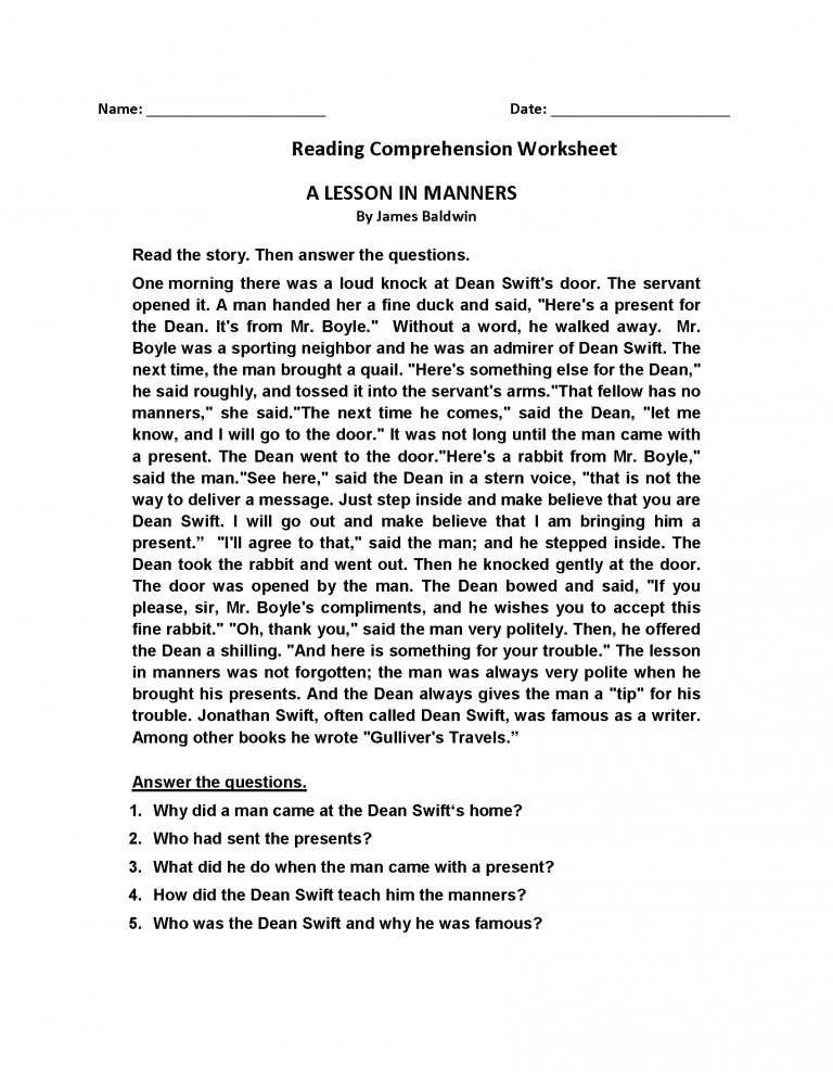 4th Grade Reading Comprehension Worksheets Best Coloring Pages For Kids Reading Comprehension Worksheets Comprehension Worksheets Reading Comprehension