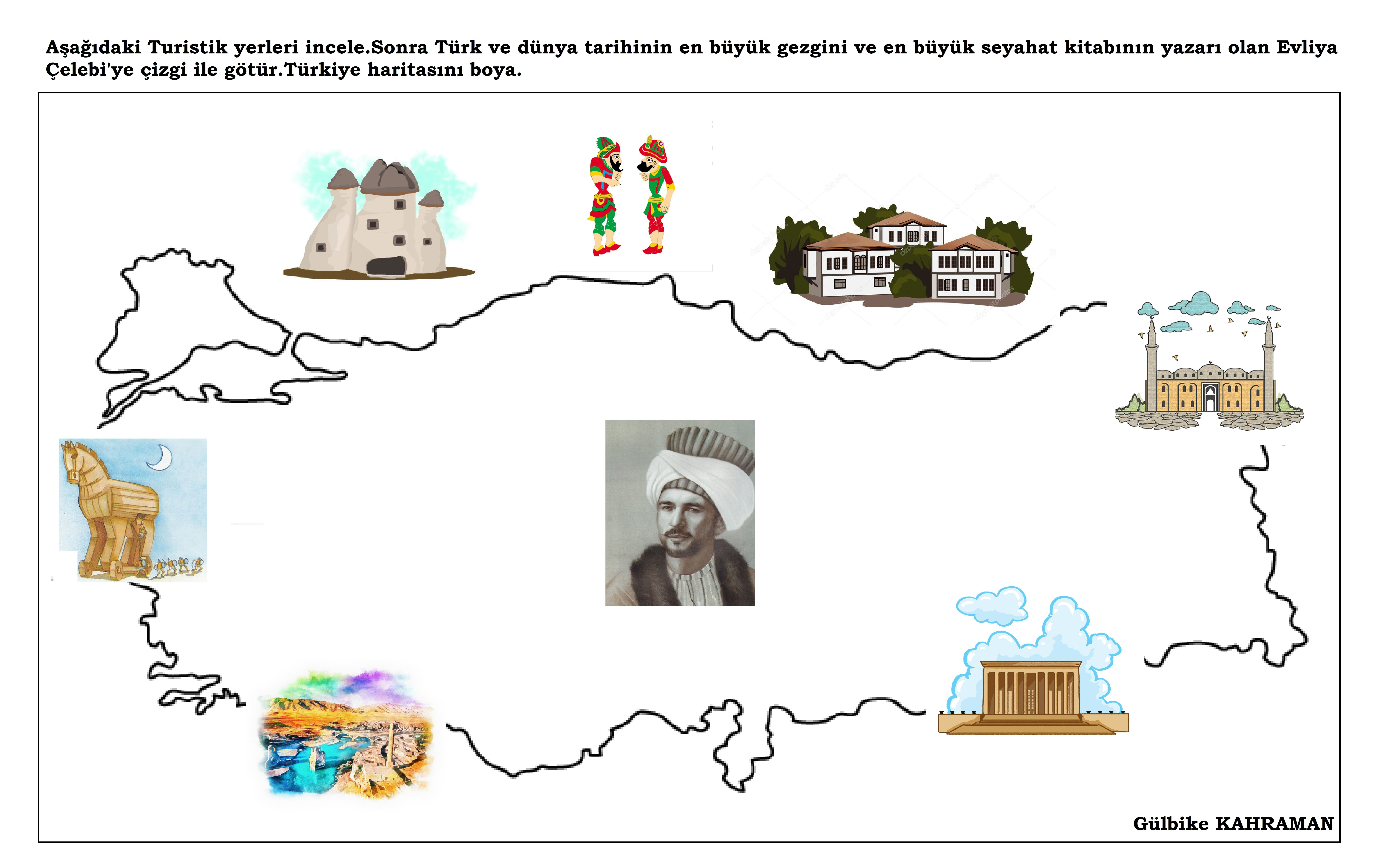 Okul öncesi Turizm Haftası Ve Evliya çelebi ünlü Kişiler Comics
