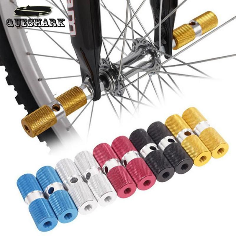 Aluminum MTB Bike Foot Pegs Bicycle Pedals Front Rear Axle Foot Pegs Accessorie