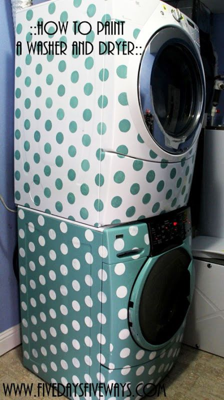 How To Transform A Washer Dryer With Stencils With Images