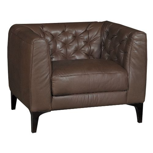 Design Chairs For Living Room Beauteous The Rodolfo Brown Leather Chair Is A Sleek Modern Take On The Inspiration