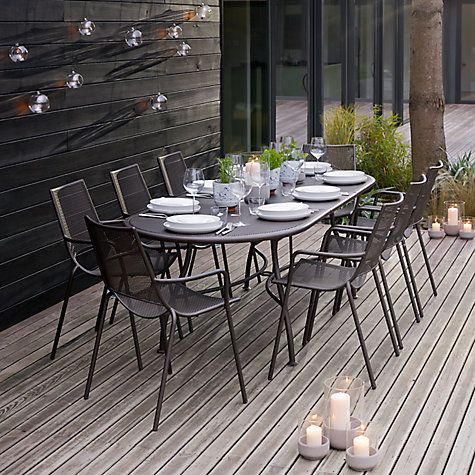 ala mesh extending table chairs dining set outdoor furniture