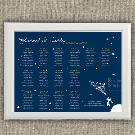Seating Plan Little Prince inspired    Printable file by redlinecs
