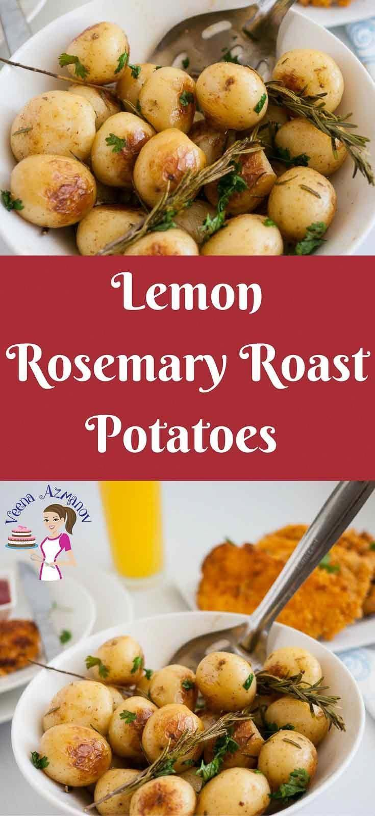 These lemon rosemary roast potatoes are a perfect side dish to serve along side any dinner be it roast chicken, turkey or a rack of lamb.  Perfect roast potatoes are an absolute treat weather you serve them on a week day or a special celebration for Thanksgiving or Christmas #NiceLambRecipes #chickensidedishes