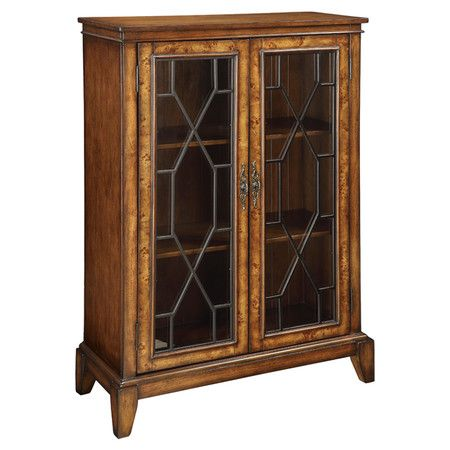Gl Door Bookcase With Chinese Chippendale Inspired Overlays And Burled Trim Product