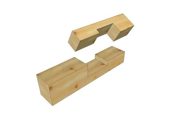 Half lap scarf joint with table scarves joinery and for Table joints