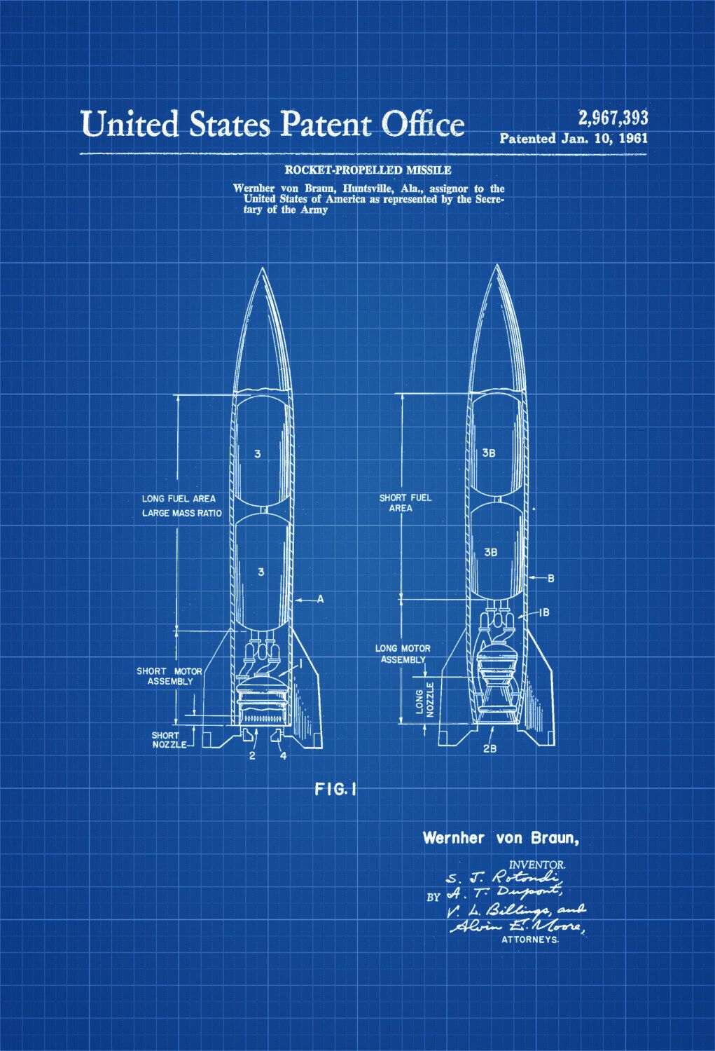 Missile patent print space art space poster space program new to patentsasprints on etsy missile patent space art space poster space program blueprint pilot gift aircraft decor rockets missiles space exploration malvernweather Image collections