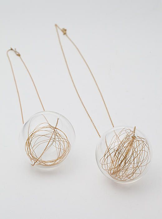 Wendy ramshaw lucciole 18ct yellow gold chain pendant necklace wendy ramshaw lucciole 18ct yellow gold chain pendant necklace glass sphere with gold thread aloadofball Image collections