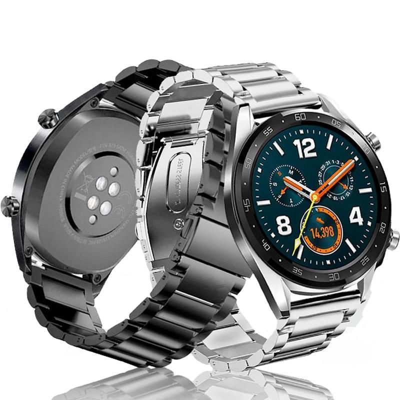 22mm Stainless Steel Bracelet For Samsung Galaxy Watch 46mm Band S3 Frontier Classic Strap Huami Amazfit Huawei Wa Huawei Watch Huawei Stainless Steel Bracelet