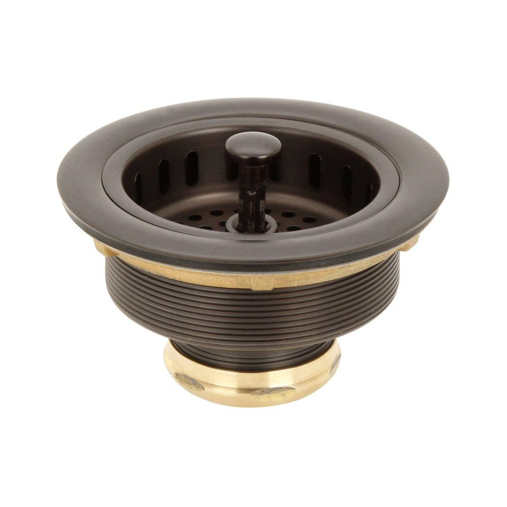 Belle Foret 3 1 2 In Post Basket Strainer In Oil Rubbed Bronze