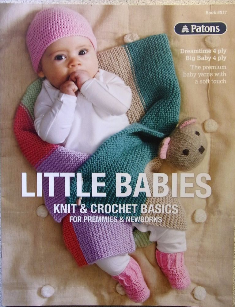 Patons Knitting Pattern Book No8017 Little Babies Bookbuz