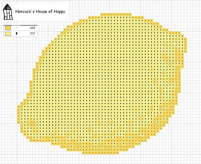 Random lemon cross stitch chart. Free at Hancock's House of Happy